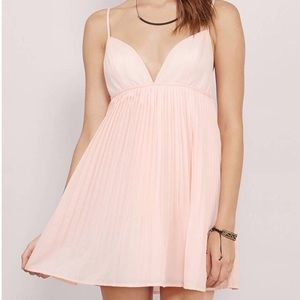 TOBI KISS Me Hello Peach Babydoll Skater Dress